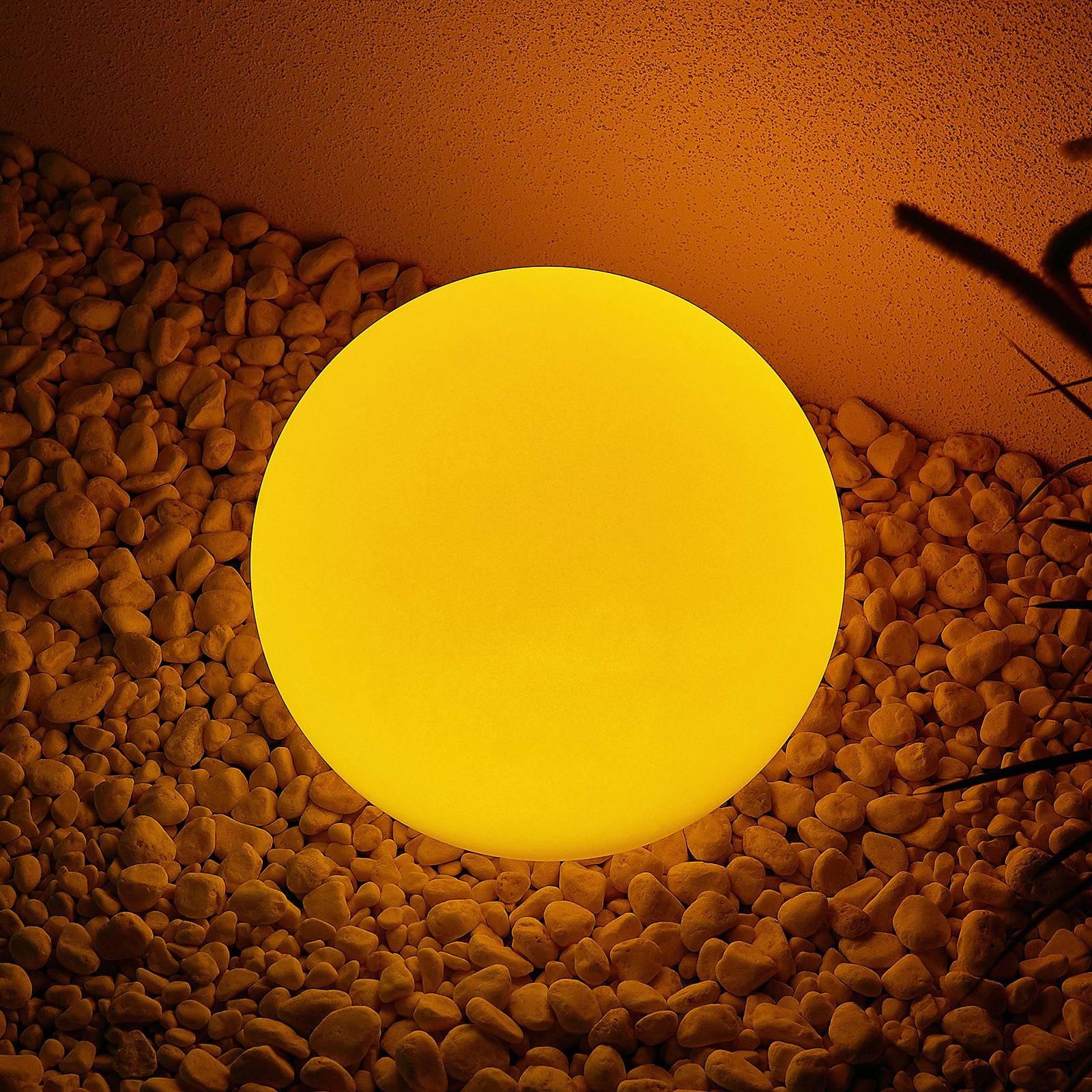 Lindby Yohan RGB-LED-aurinkovalaisin, 25 cm