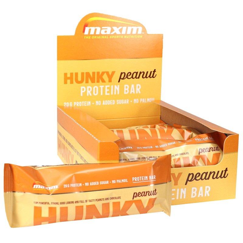 Proteiinipatukat Hunky Peanut 12kpl - 78% alennus