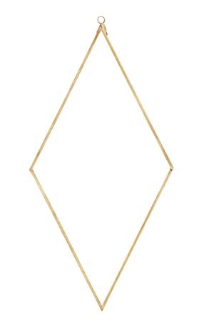 Spegel diamant 41x20 cm Mässing