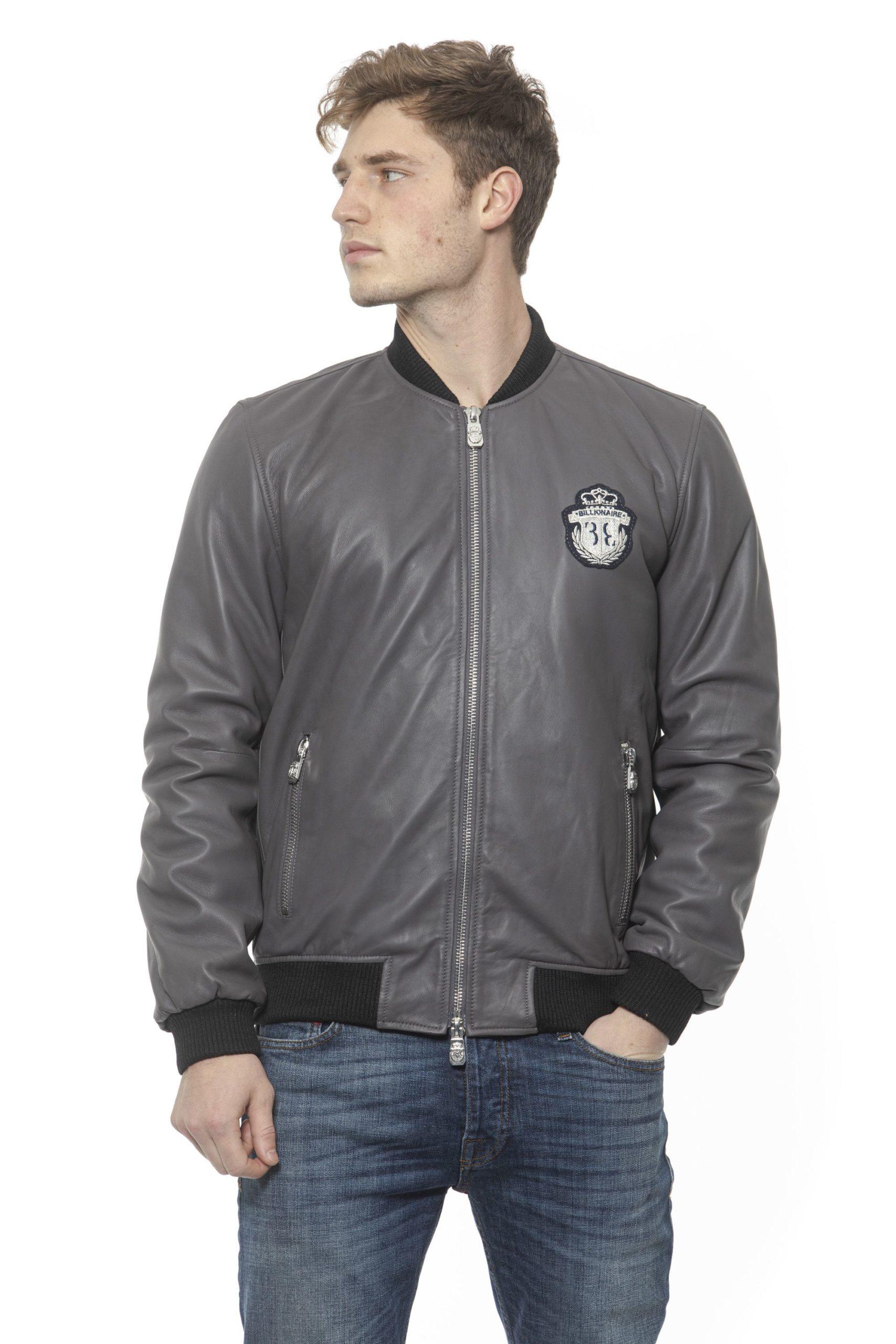Billionaire Italian Couture Men's Grigio Jacket Grey BI1313398 - M
