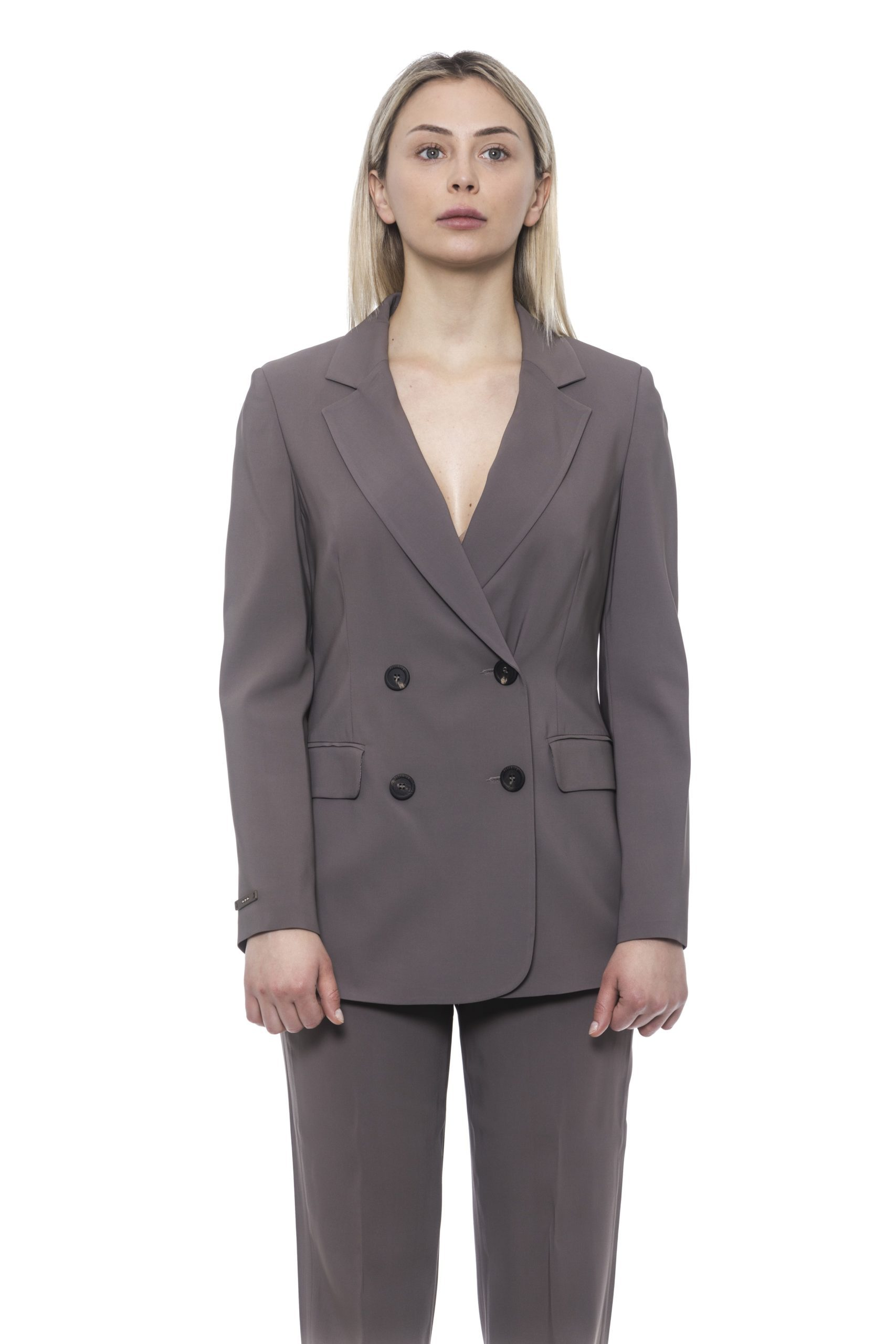 Peserico Women's Blazer Brown PE1426867 - IT42 | S