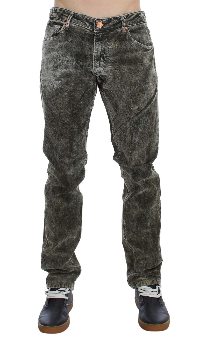 ACHT Men's Cotton Stretch Slim Fit Jeans Green SIG30443 - W34