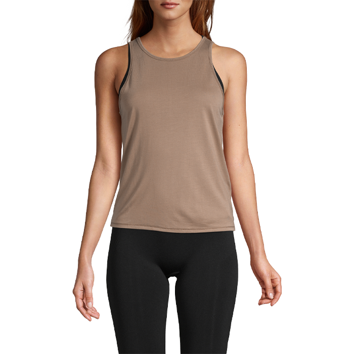 Tie Back Tank, Taupe Grey