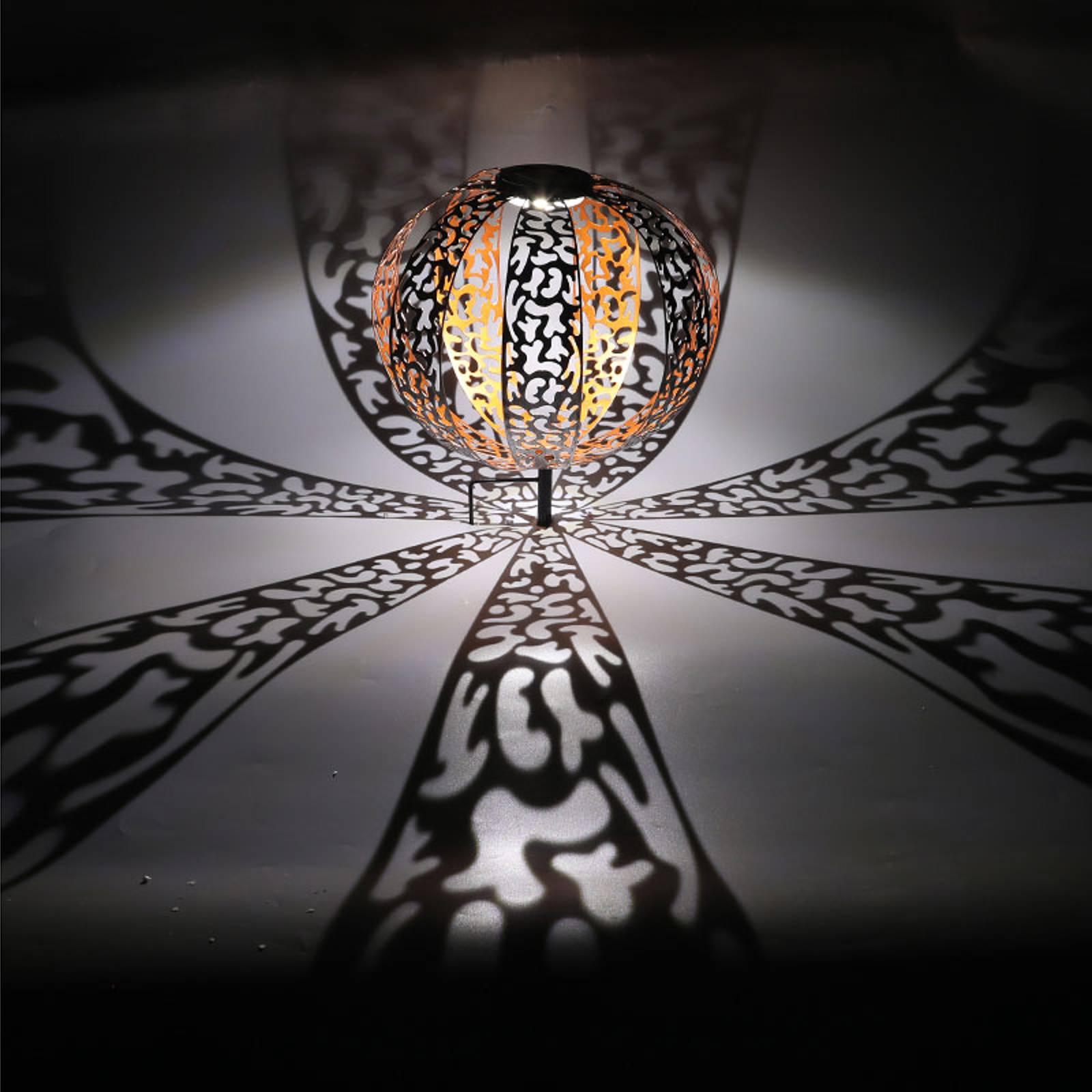 Aurinkokäyttöinen koristevalo 33647, antiikkihopea
