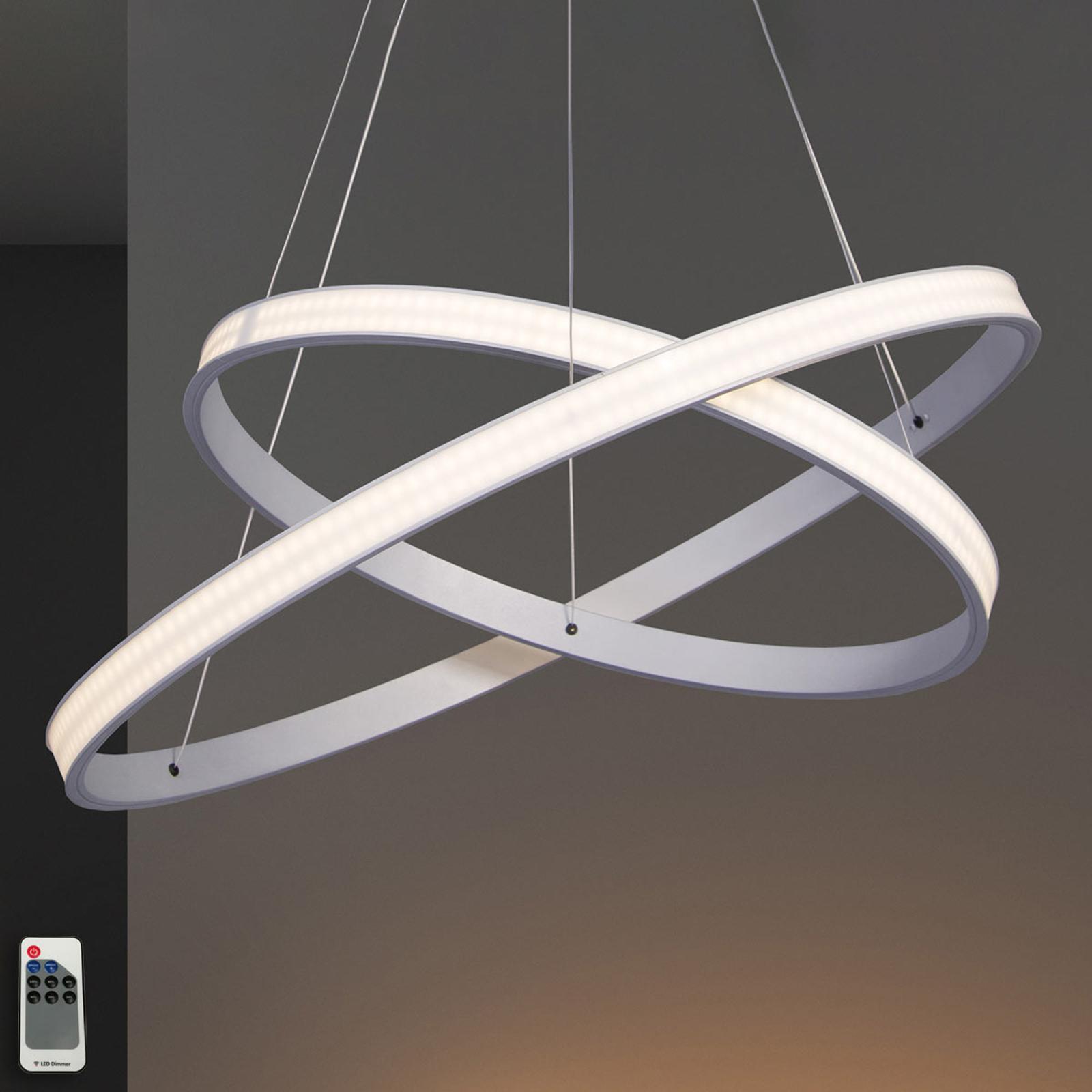LED-riippulamppu Largo Ø 59 cm alumiini