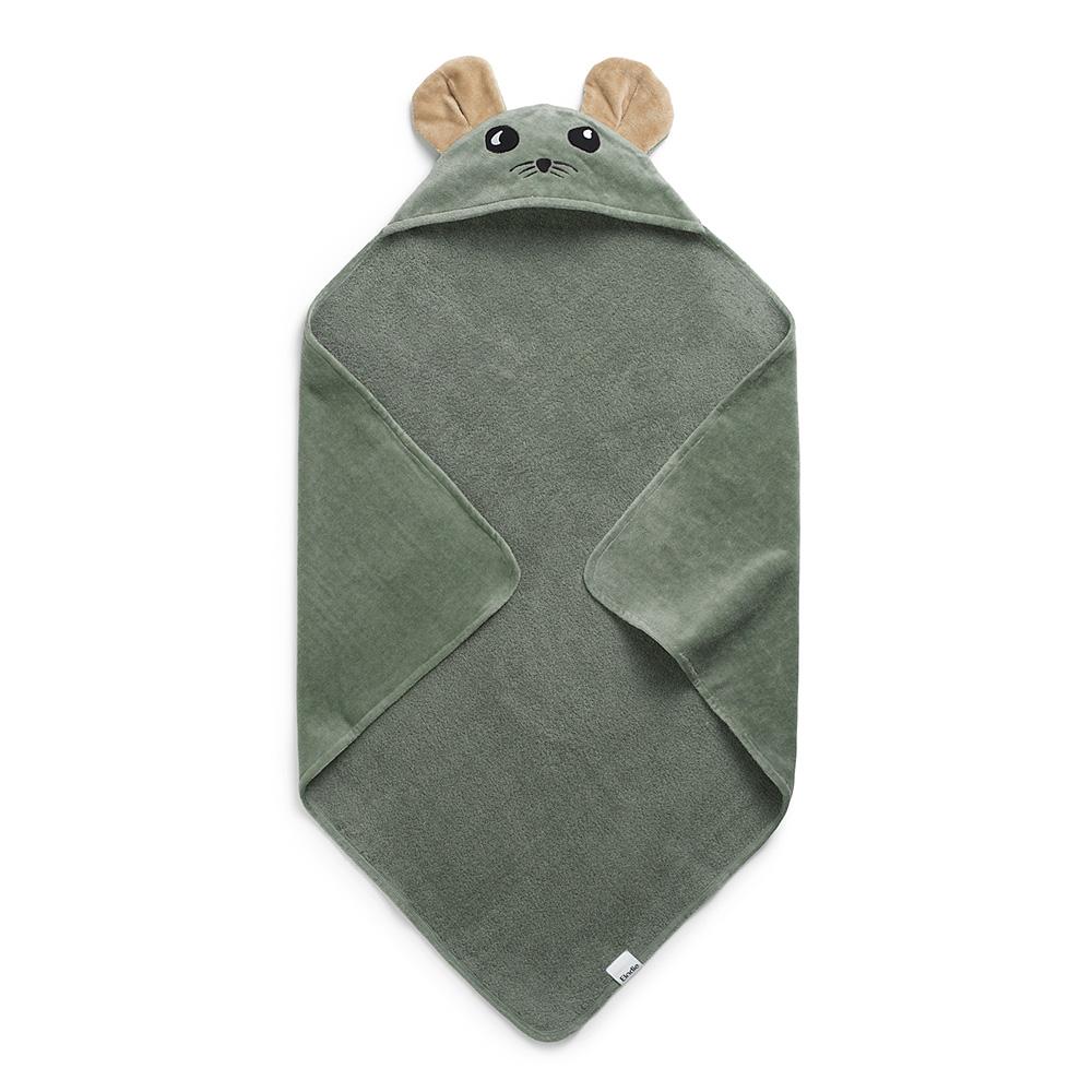 Hooded Towel - Hazy Jade Max