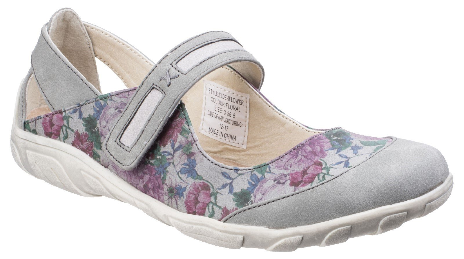 Fleet & Foster Women's Elderflower Flats Floral 26287-43846 - Floral 3