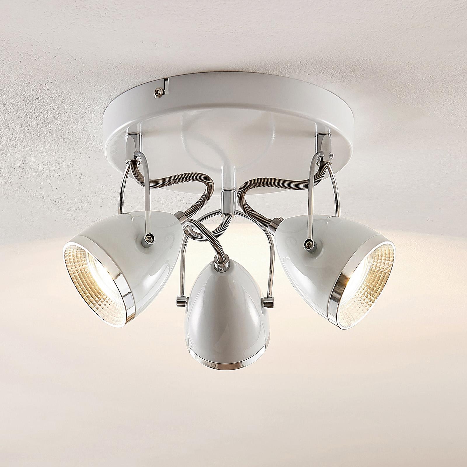 Lindby Jadon valkoinen 3-lamppuinen 26,3 cm