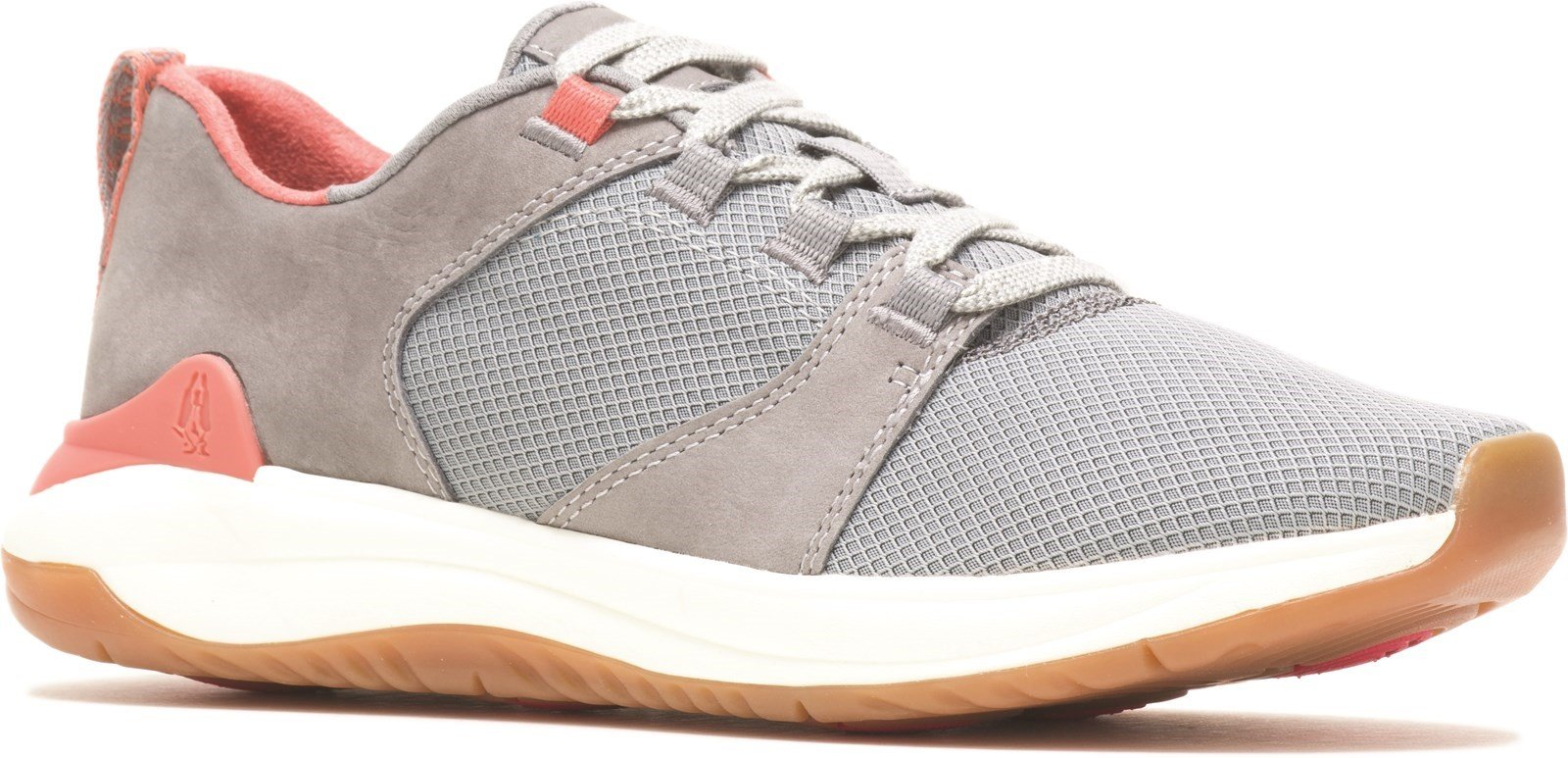 Hush Puppies Women's Basil Ladies Lace Trainer Various Colours 31287 - Frost Grey 3