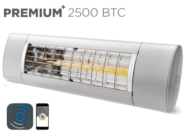 Solamagic - 2500 Premium+ BTC - Patio Heater - Titanium - 5 Years Warranty