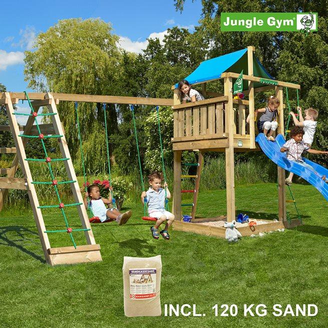 Jungle Gym Lodge lektorn komplett inkl. Climb 120 kg, Klätterställning