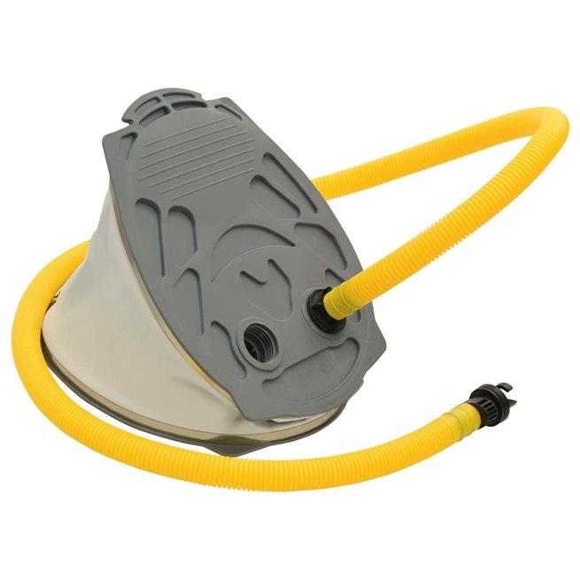 vidaXL Fotpump 21x29,5 cm PP och PE grå och gul
