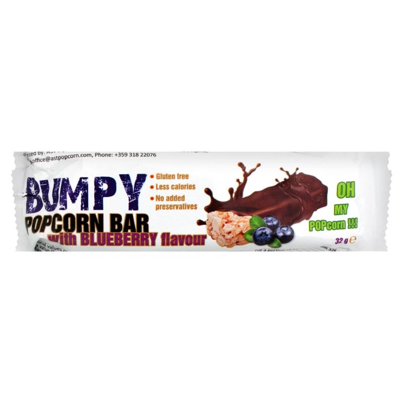 Bumpy Popcorn Bar Blueberry 32 gram
