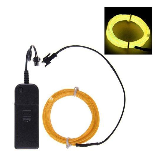 El Wire Batteridriven LED Slinga - Gul