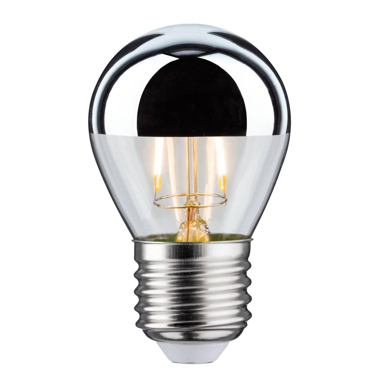 LED-pääpeililamppu E27 pisara 827 hopea 2,6 W