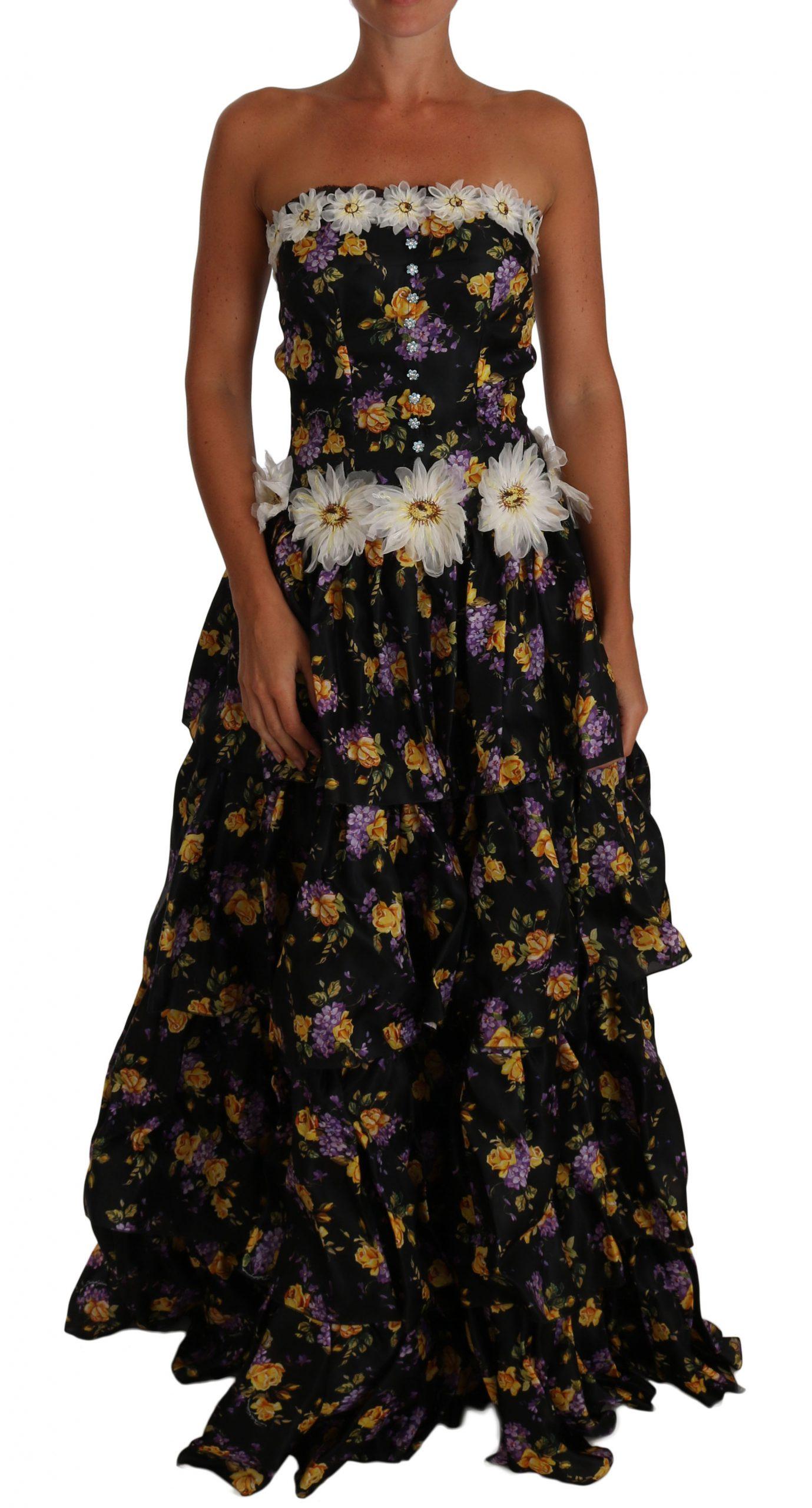 Dolce & Gabbana Women's Sartoria Ball Floral Crystal Dress DR1074 - IT36   S