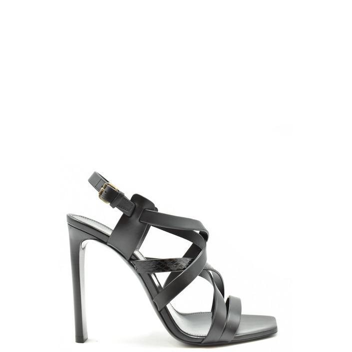 Saint Laurent Women's Sandal Black 179414 - black 36