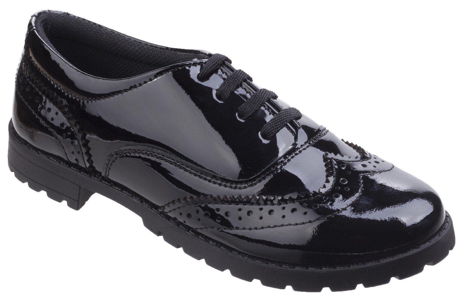 Hush Puppies Men's Eadie Jnr Brogue Shoe Black 27077 - Black 2 UK