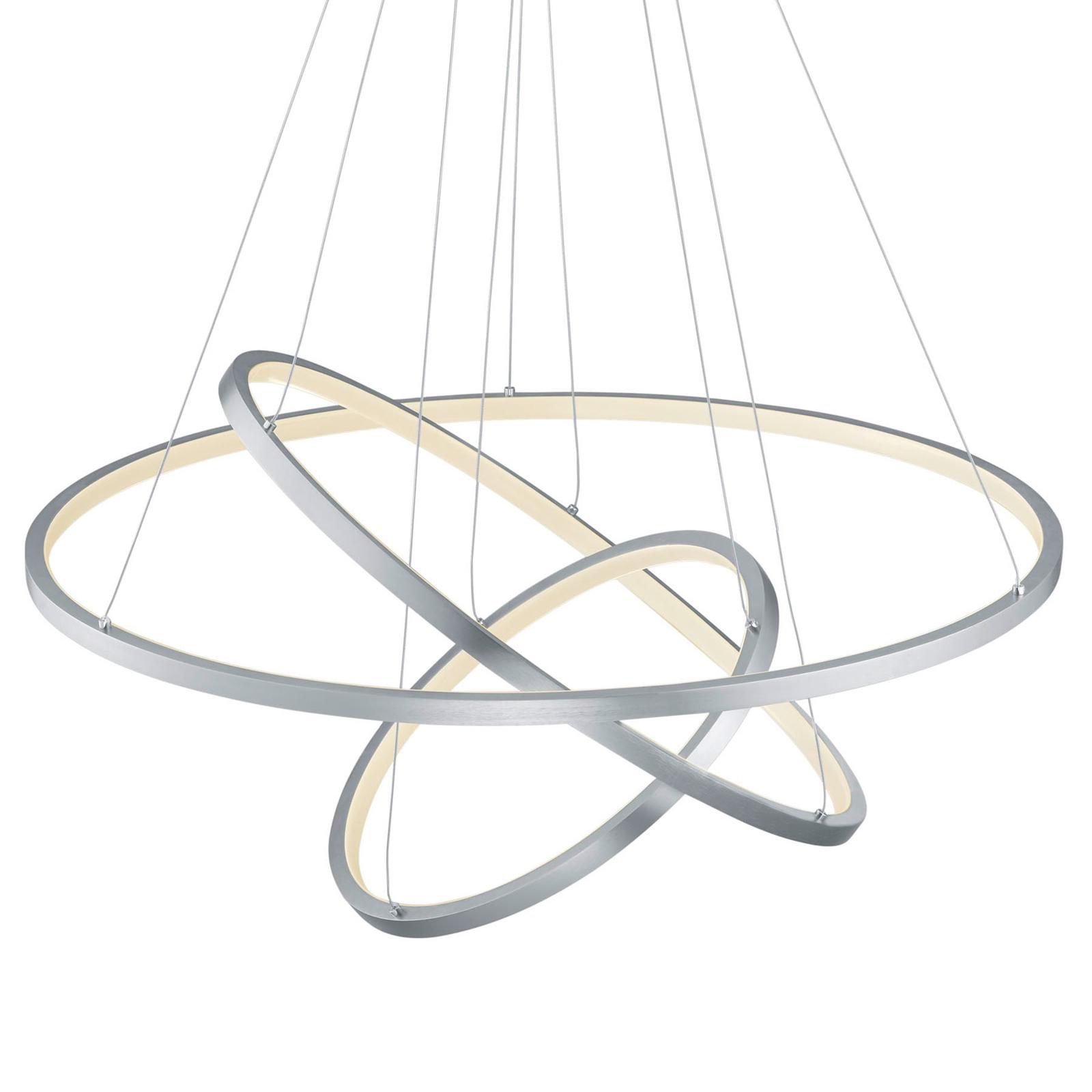 Trio WiZ Aaron LED-riippuvalaisin, matta nikkeli