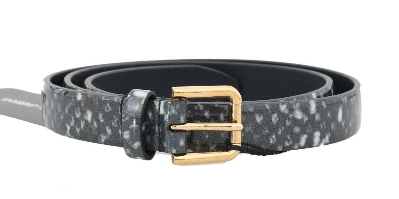 Dolce & Gabbana Women's Pattern Leather Gold Buckle Belt Multicolor BEL50032 - 65 cm / 26 Inches