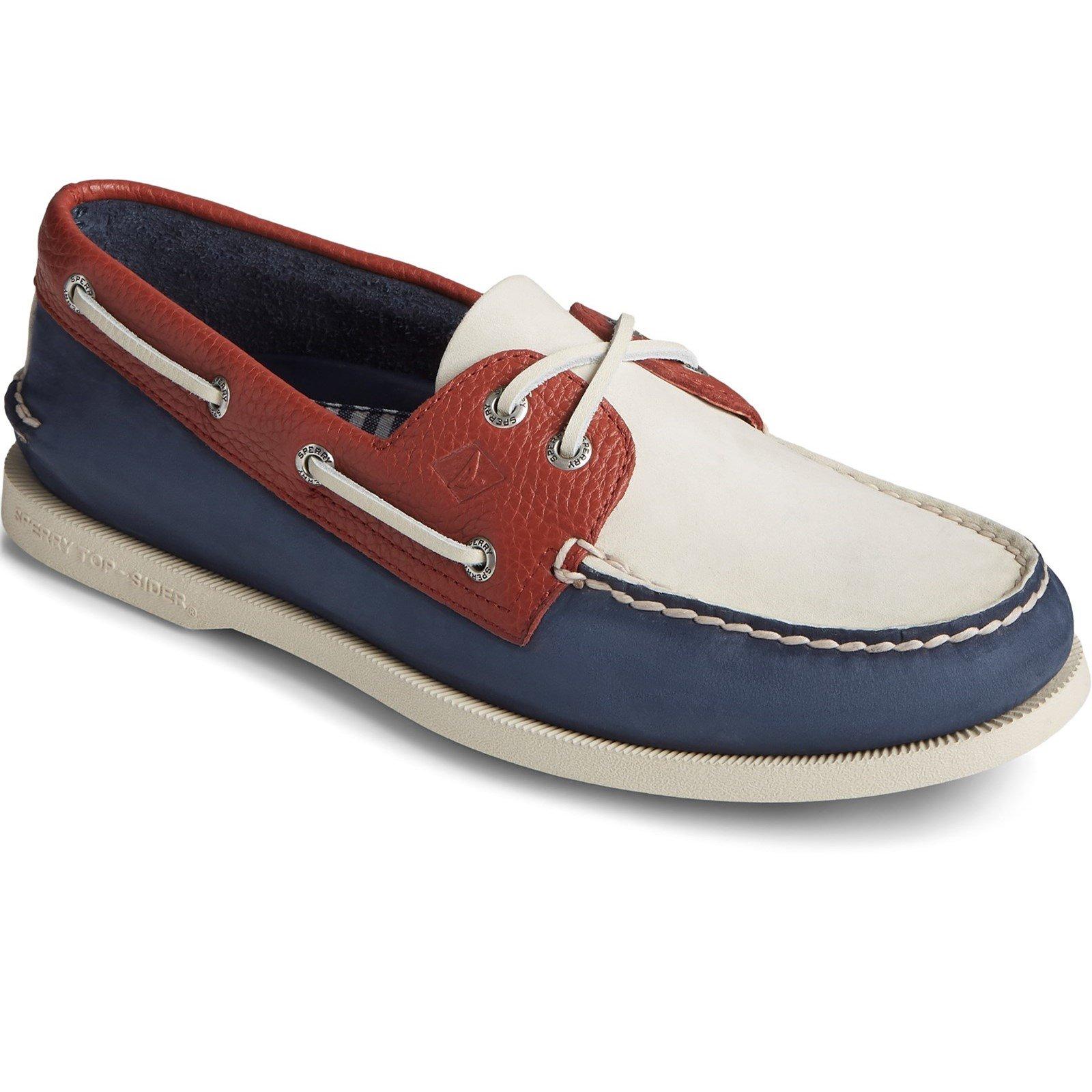 Sperry Men's A/O 2-Eye Nubuck Boat Shoe Various Colours 32920 - Blue/White 11