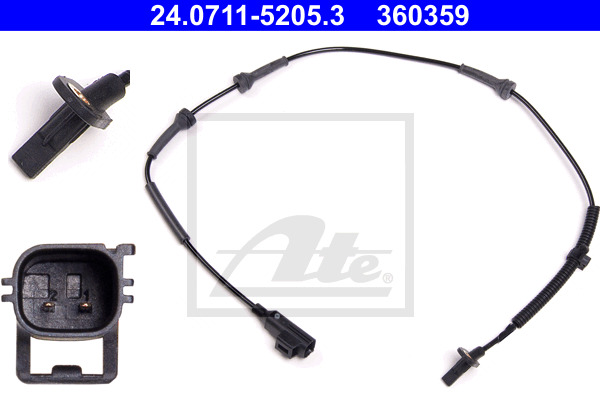 ABS-anturi ATE 24.0711-5205.3