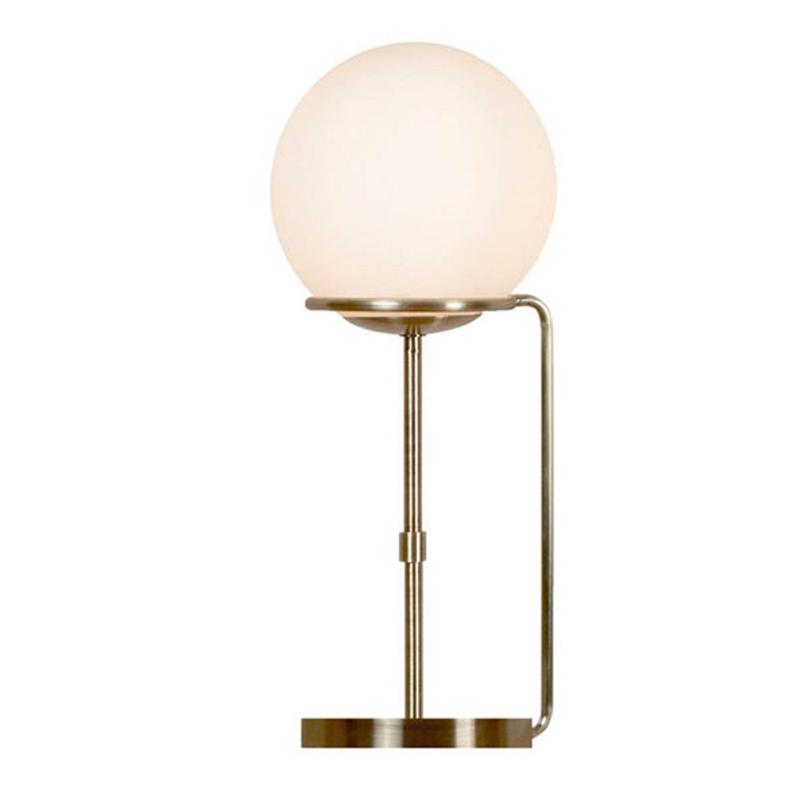Bordlampe Sphere med glasskuleskjerm