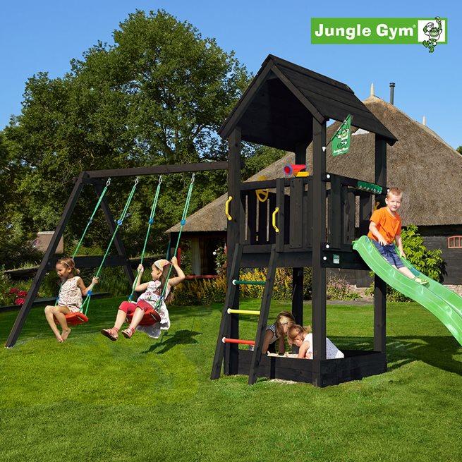 Jungle Gym Club lektorn komplett inkl. swing, Klätterställning