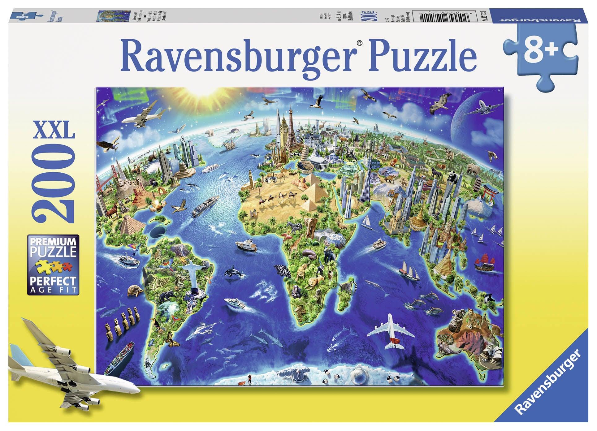 Ravensburger Pussel Världens Landmärken 200 Bitar