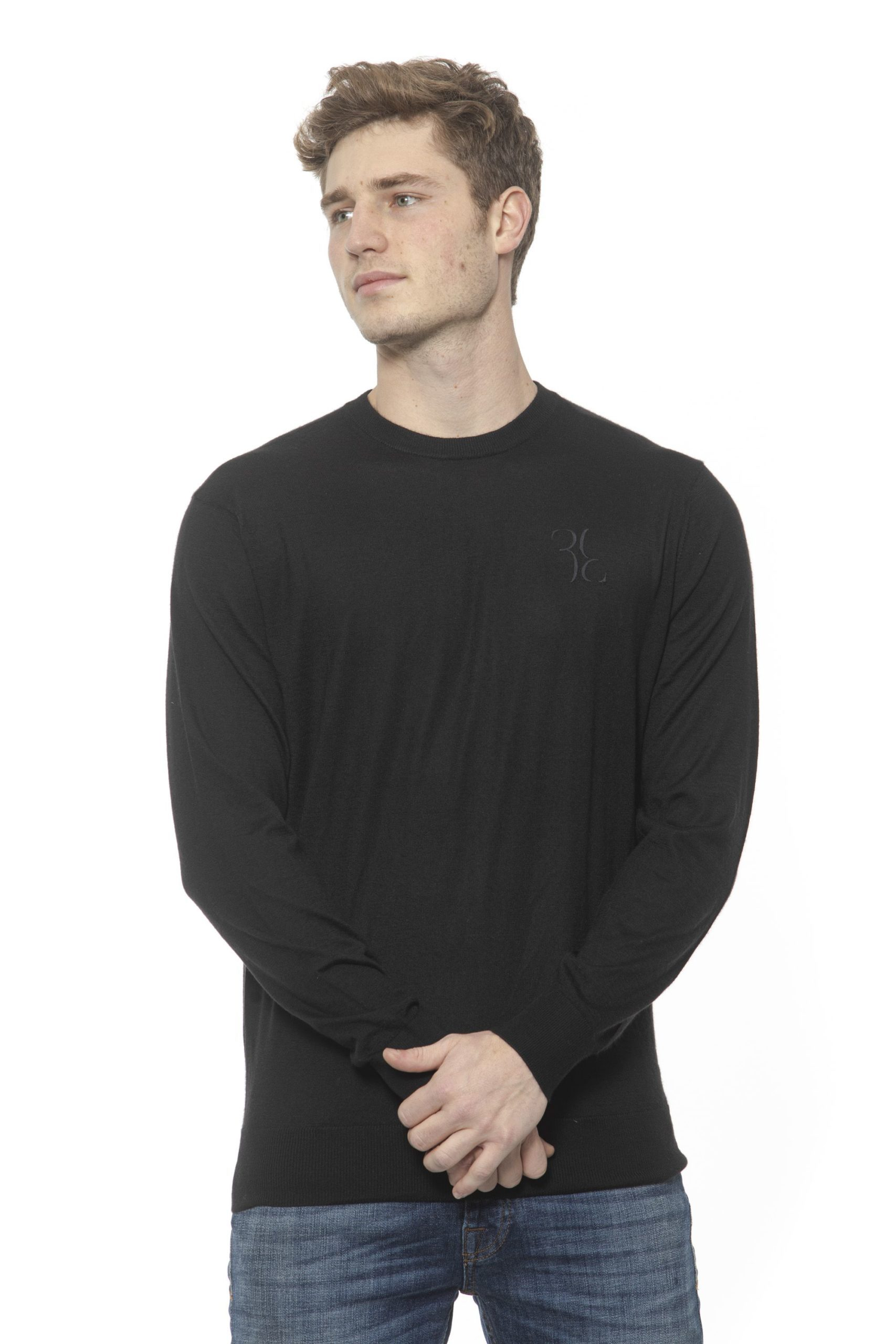 Billionaire Italian Couture Men's Nero Sweater Black BI1313573 - XXL