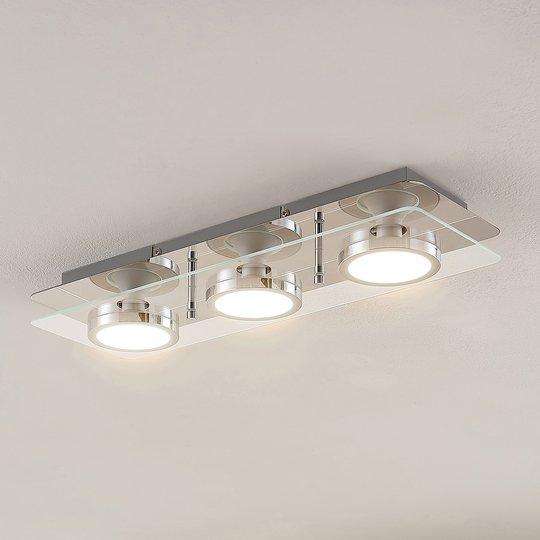 Lindby Gabryl LED -kattovalaisin 3-lampp. pitkä