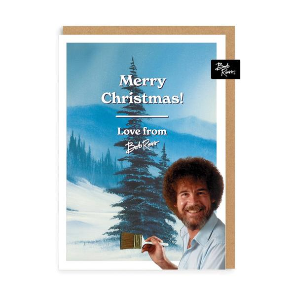 Snowy Tree Merry Christmas Card