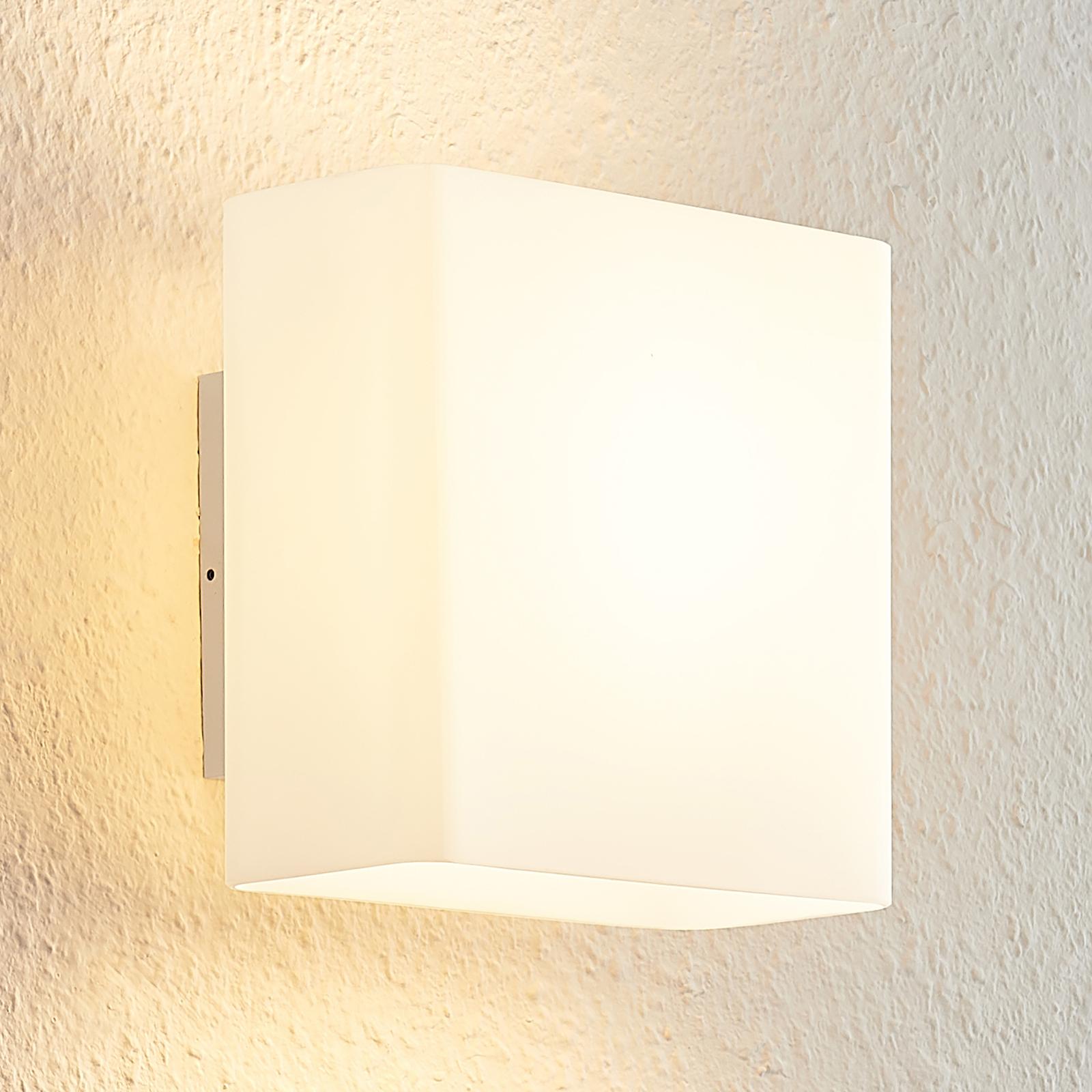 Arcchio Daya LED-seinälamppu lasia, kulmikas
