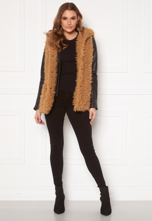 Happy Holly Jenny fur vest Camel 32/34