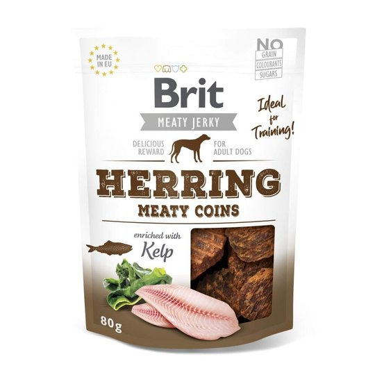 Brit Care Meaty Jerky Coins Herring 80 g