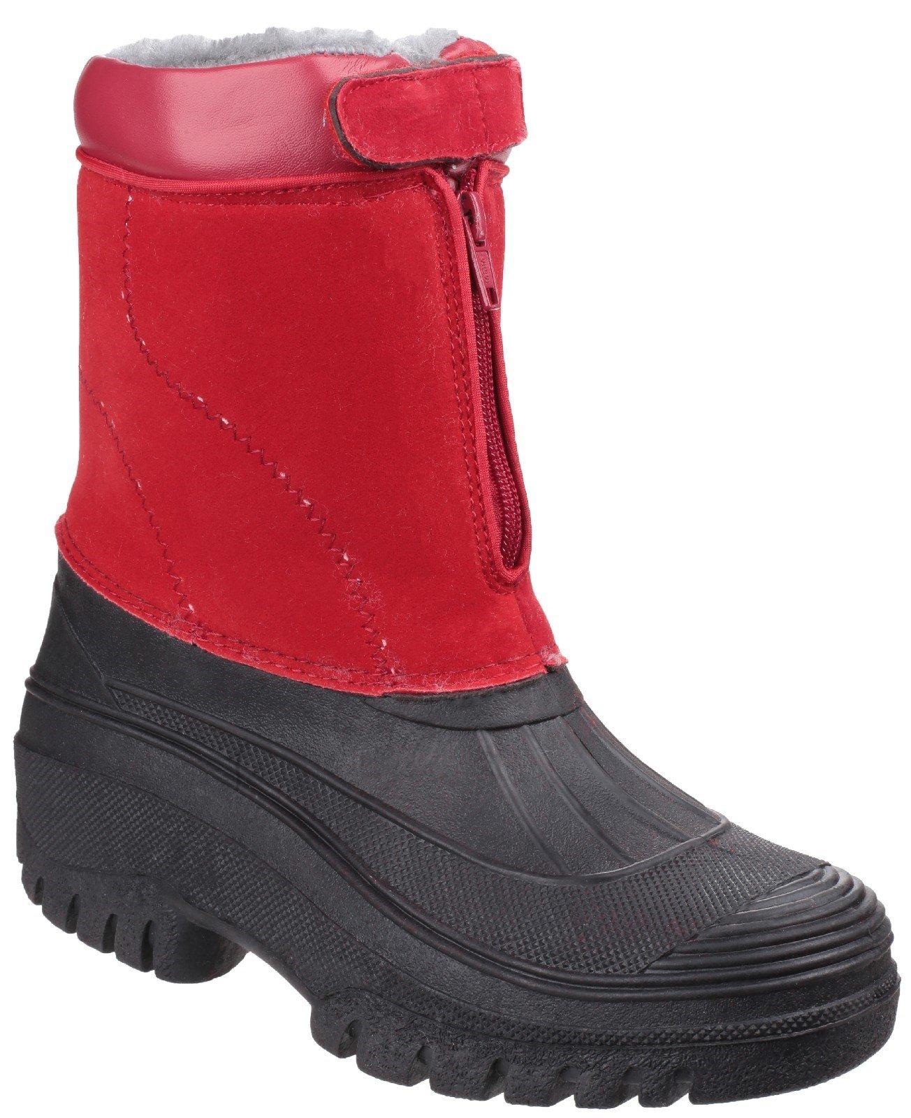 Cotswold Women's Venture Waterproof Winter Boot Various Colours 16569 - Red 2