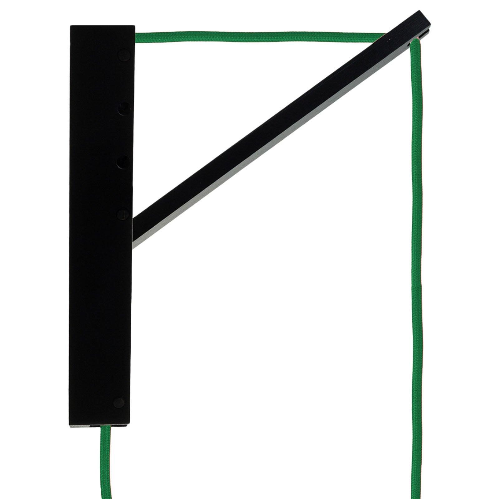 SEGULA Pinocchio-hengelampe svart, kabel grønn