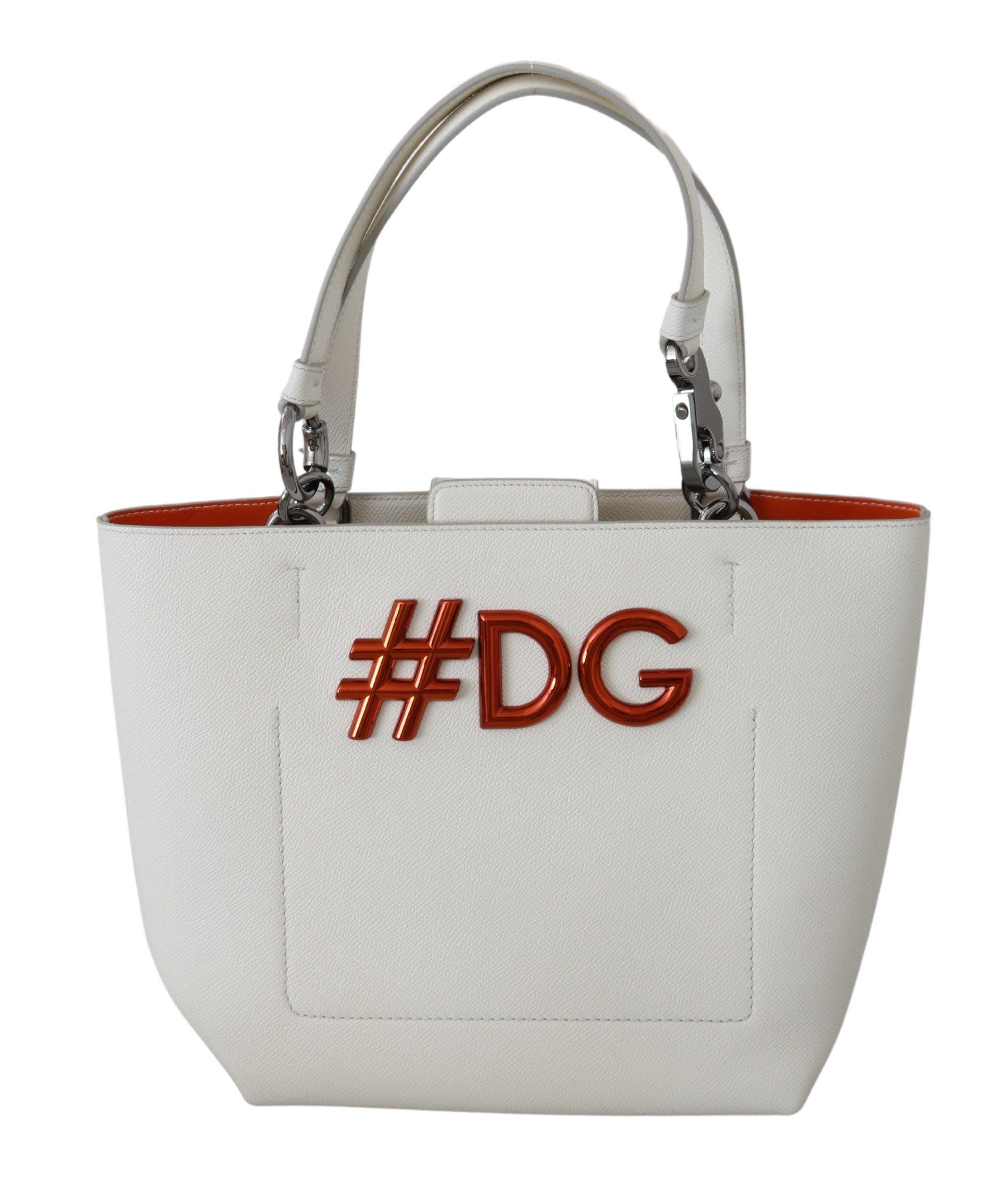 Dolce & Gabbana Women's Hand Leather BEATRICE Tote Bag White VAS9220