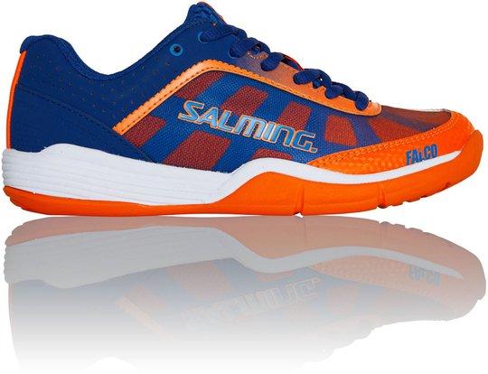 Salming Falco Kid Sportssko, Blue/Orange 31 1/3