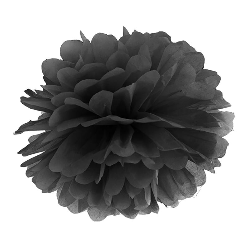 Pompom Svart - 25 cm