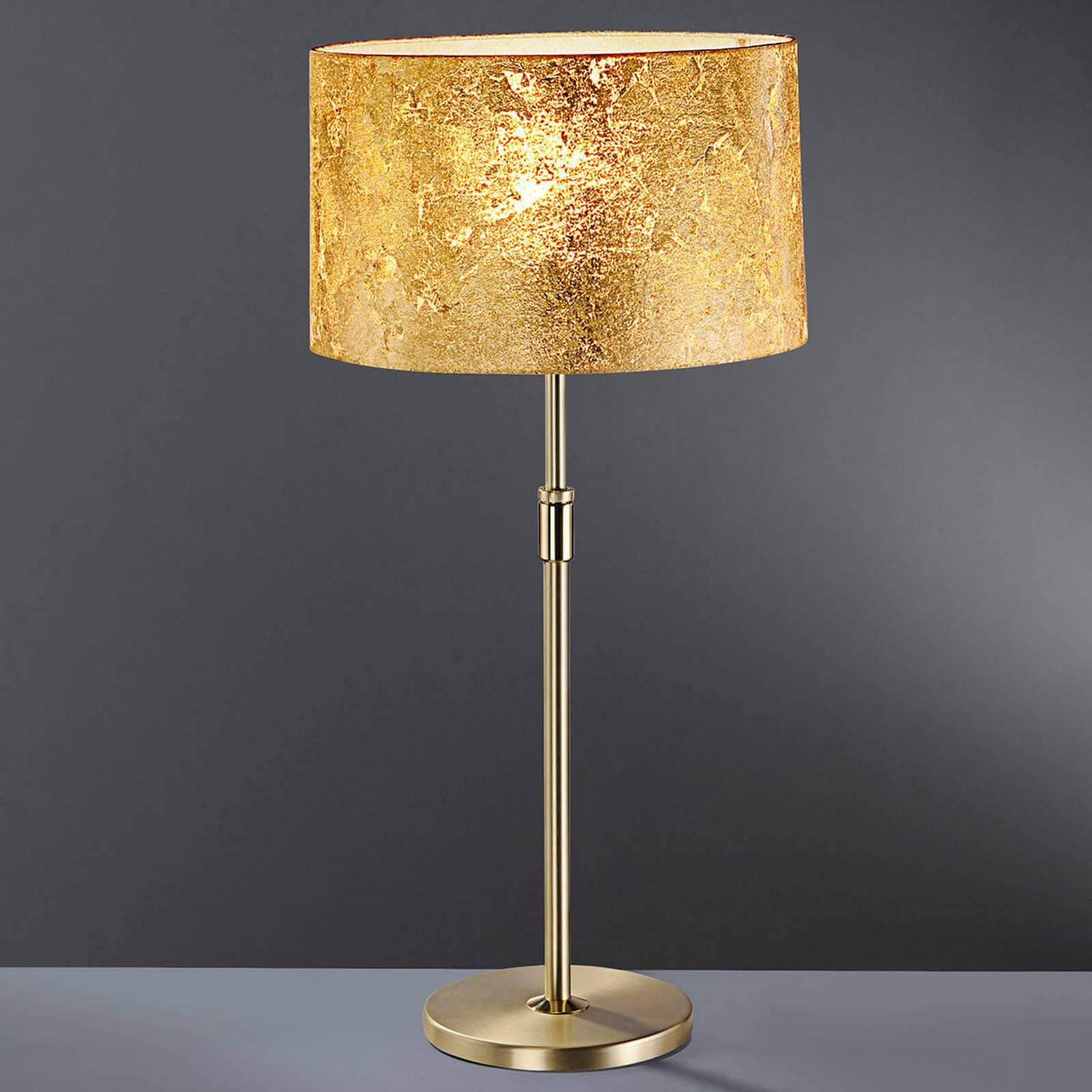 Bordlampe med bladgull Loop 55 - 75 cm høy