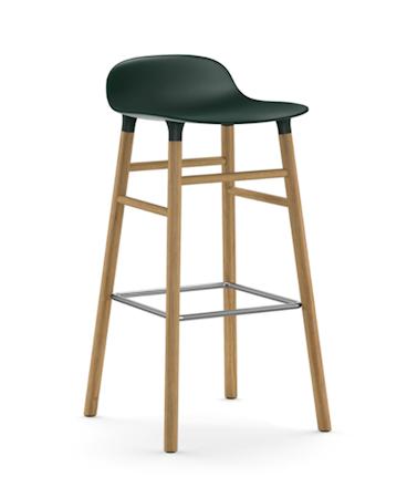 Form Barstol Grønn/Eik 75 cm
