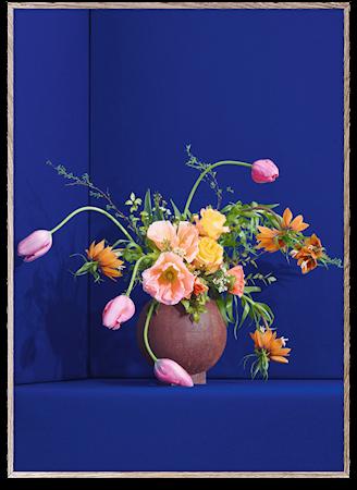 Blomst 01 / Blue Poster 30x40 cm