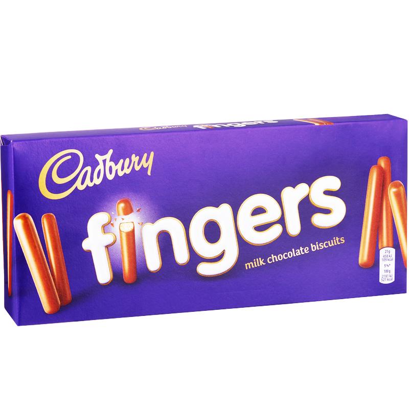 Maitosuklaakeksit Cadbury Fingers - 20% alennus