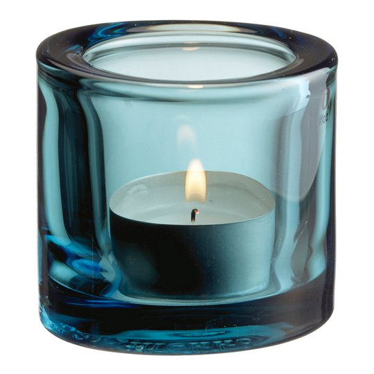 Iittala - Kivi Ljuslykta 6 cm Havsblå