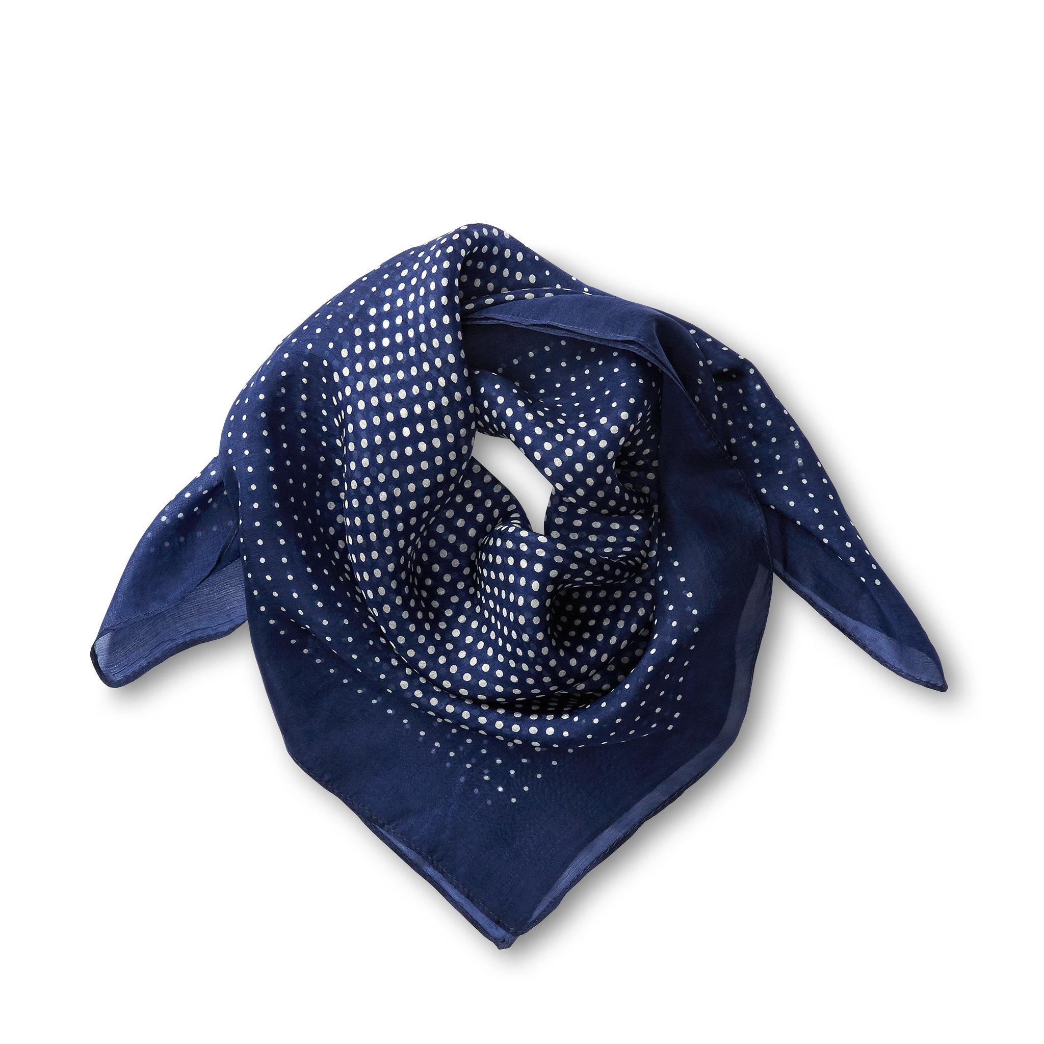 Scarf i silke, 60x60 cm