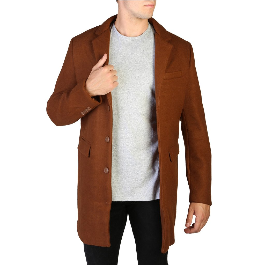 Alessandro Dell'Acqua Men's Coat Various Colours 348399 - brown XL