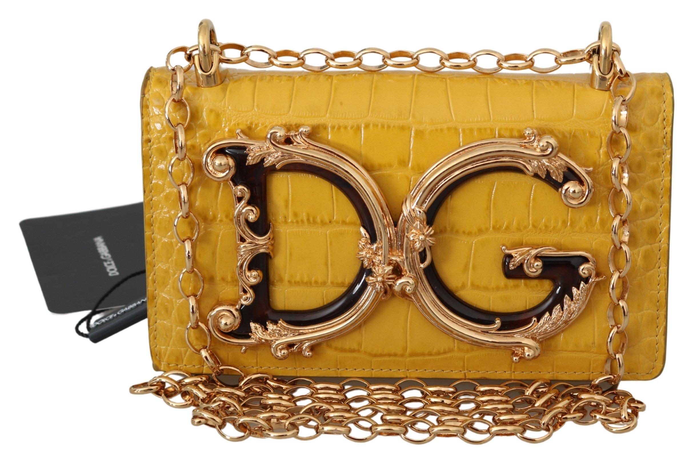 Dolce & Gabbana Women's Leather Logo iPhone X Cover Crossbody Bag Yellow VAS9910