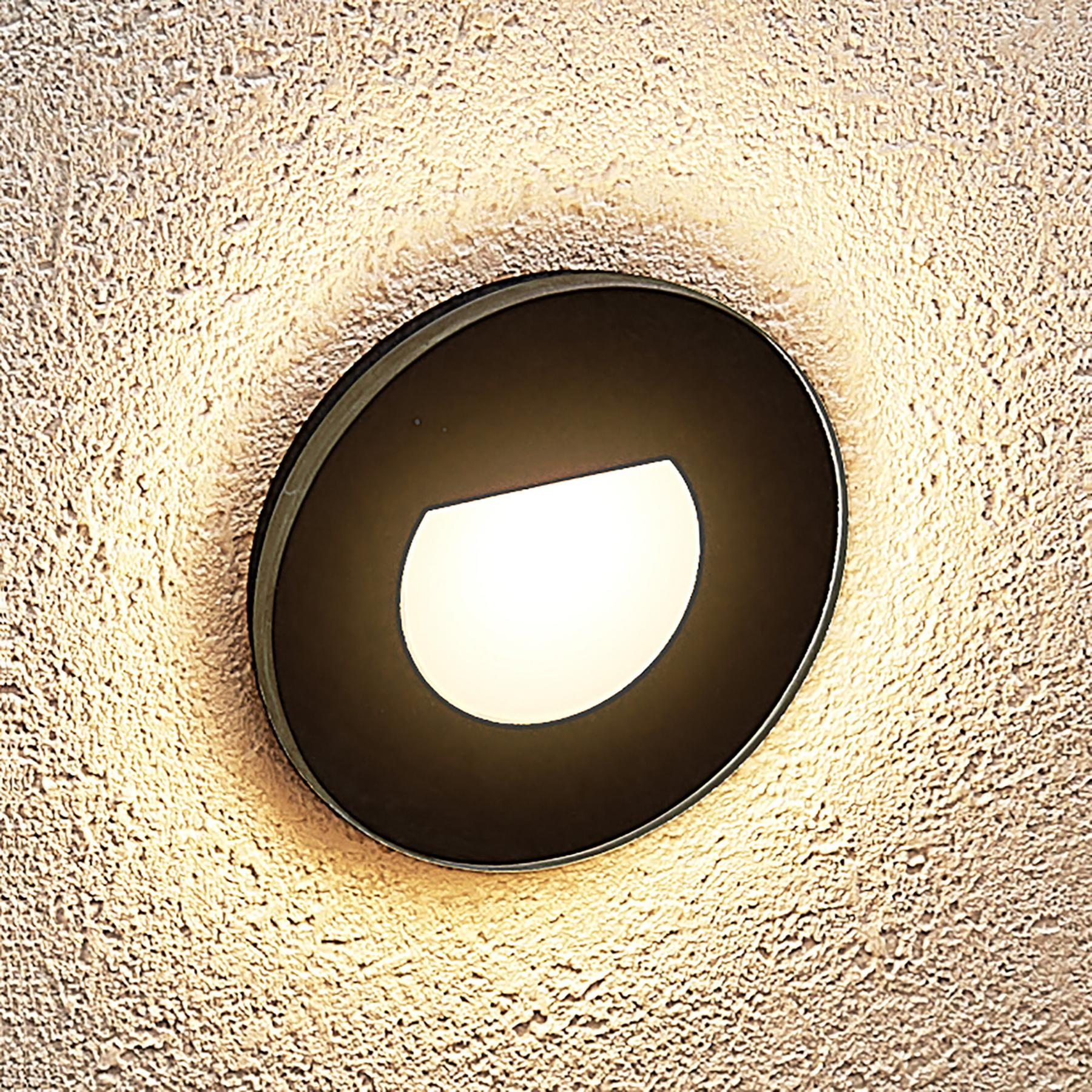 Arcchio Vexi -LED-uppovalaisin, pyöreä, mattamusta