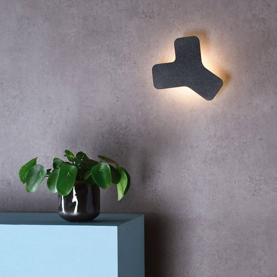 Ypsilon LED-vegglampe, mørkegrå